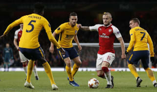 Jack Wilshere Arsenal vs Atletico Madrid