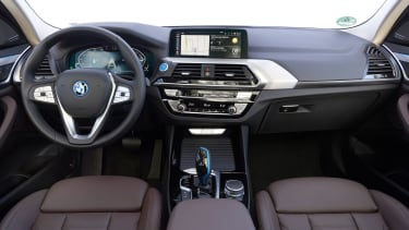 Interior shot of the BMW iX3