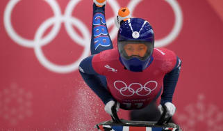 Team GB skeleton skinsuits Lizzy Yarnold