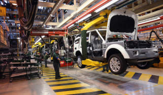 Jaguar Land Rover car factory