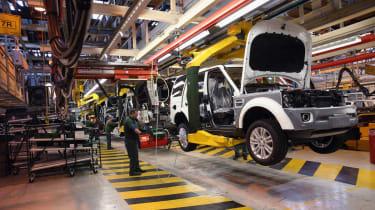 Jaguar Land Rover car factory