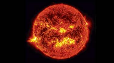 Telescopic photo of a coronal mass ejection