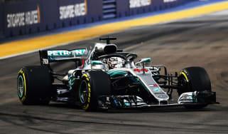 Lewis Hamilton F1 Singapore GP pole position