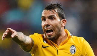 Tevez playing for Juventus in Serie A