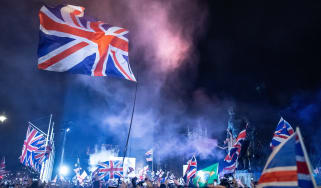 Brexit supporters celebrate as UK leaves EU