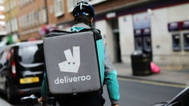 A Deliveroo driver in London