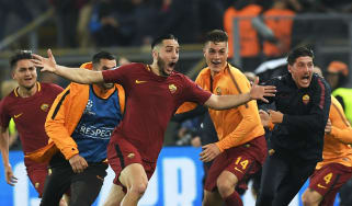 Kostas Manolas goal Roma 3 Barcelona 0 Champions League