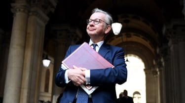 Michael Gove walks to Downing Street after attending a cabinet meeting