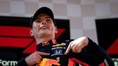 Max Verstappen won the 2019 Austrian Grand Prix in the Honda-powered Red Bull