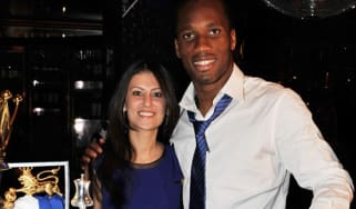 Marina Granovskaia and Chelsea player Didier Drogba