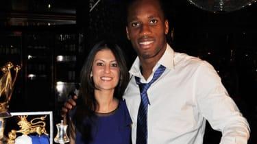 Marina Granovskaia and Chelsea player Didier Drogba