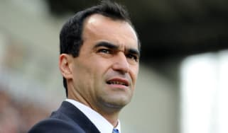 WIGAN, ENGLAND - MAY 13:Wigan Athletic manager Roberto Martinez looks on during the Barclays Premier League match between Wigan Athletic and Wolverhampton Wanderers at DW Stadium on May 13, 2