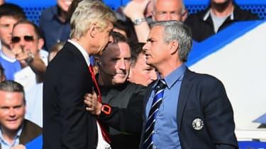 Arsene Wenger and Jose Mourinho are kept apart