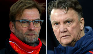 Jurgen Klopp of Liverpool, Louis van Gaal of Man United