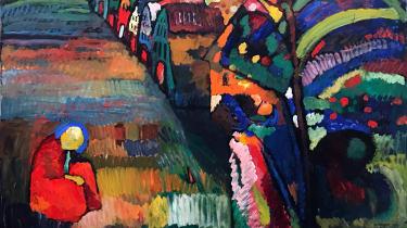 Bild mit Hausern by Wassily Kandinsky