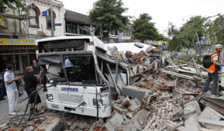 Earthquake in Christchurch, New Zealand