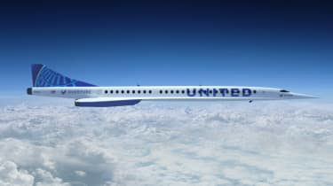 United Airlines Boom Supersonic Overture aircraft