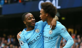 Manchester City forwards Raheem Sterling and Leroy Sane