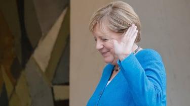 Angela Merkel waving