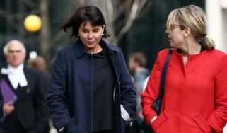 Sadie Frost arrives at Mirror phone hacking trial