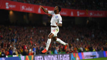 Raheem Sterling scored twice in England's 3-2 victory against Spain in the Nations League in October
