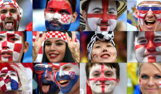 World Cup semi-final Croatia vs. England