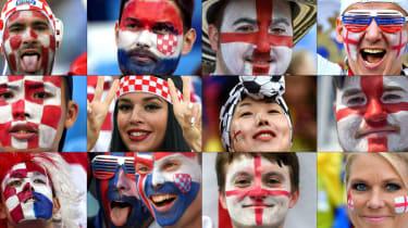 World Cup semi-final Croatia vs. England