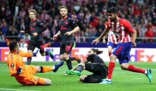 Diego Costa goal Atletico Madrid Arsenal Europa League