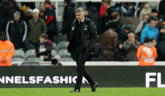 Ole Gunnar Solskjaer reacts after Man Utd's 1-0 defeat at Newcastle