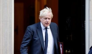Boris Johnson leaves Downing Street