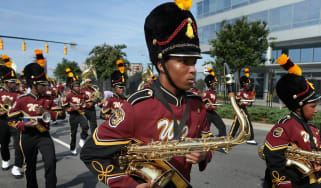 Labor Day marching band