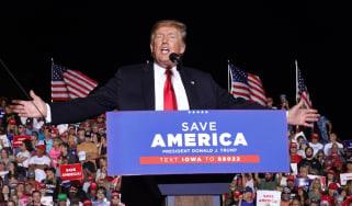 Trump at October 2021 rally