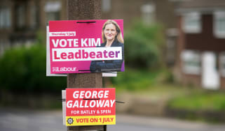 Campaign posters in Batley and Spen