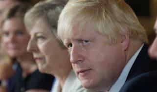 Boris Johnson and Theresa May at cabinet