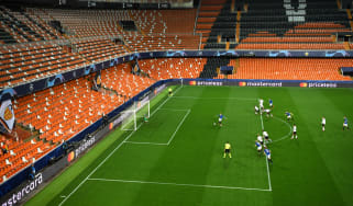 Valencia's Uefa Champions League clash against Atalanta on 10 March was played behind closed doors at the Estadio Mestalla