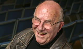"""OXFORD, ENGLAND - MARCH 28:Author, critic and TV presenter Clive James poses for a portrait at the annual """"Sunday Times Oxford Literary Festival"""" held at the Oxford Union March 28, 2004 in Ox"""