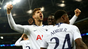 Fernando Llorente scored Tottenham's third goal against Borussia Dortmund at Wembley