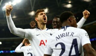Fernando Llorente scored Tottenham's third goal against Borussia Dortmund at Wembley