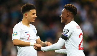 Jadon Sancho and Callum Hudson-Odoi starred for England in the Euro 2020 qualifiers in March