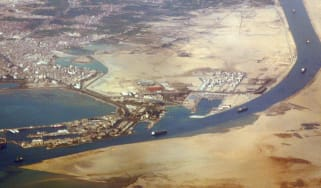 The southern entrance of the Suez Canal