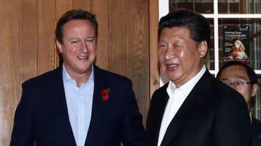 David Cameron and Xi Jinping
