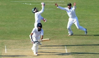 Moeen Ali batting for England against Bangladesh