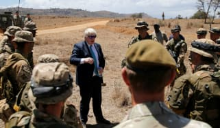 Boris Johnson in Kenya