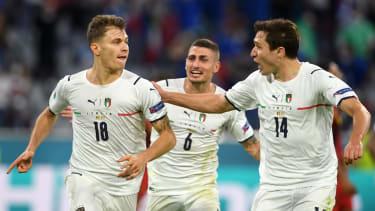 Nicolo Barella scored Italy's first goal in their 2-1 win over Belgium