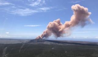 Kilauea volcano Hawaii eruption