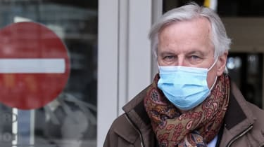 EU chief negotiator Michel Barnier returns to Brussels after the last round of negotiations in London