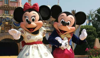 Minnie and Mickey Mouse at Disneyland Park in California