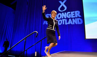 Nicola Sturgeon on stage at SNP conference