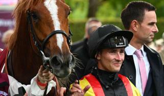 Arc winner Torquator Tasso and jockey Rene Piechulek