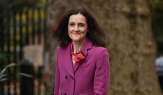 Theresa Villiers arrives at 10 Downing Street for a cabinet meeting in November 2019.